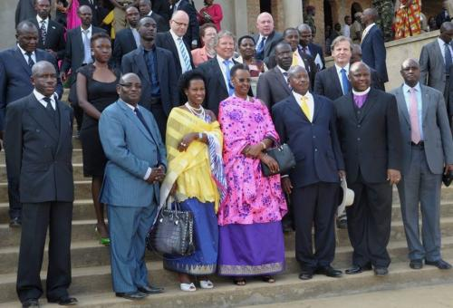 President Museveni with wife Janet at function held in Mbarara