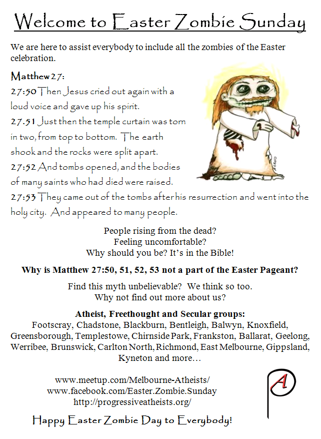 Zombie Day leaflet in paint