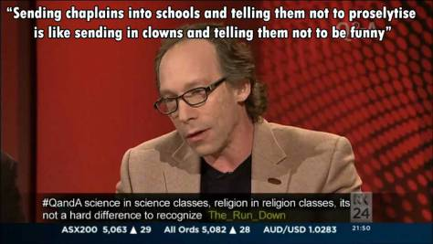 Lawrence Krauss on Chaplaincy | Q&A 2 June 2014