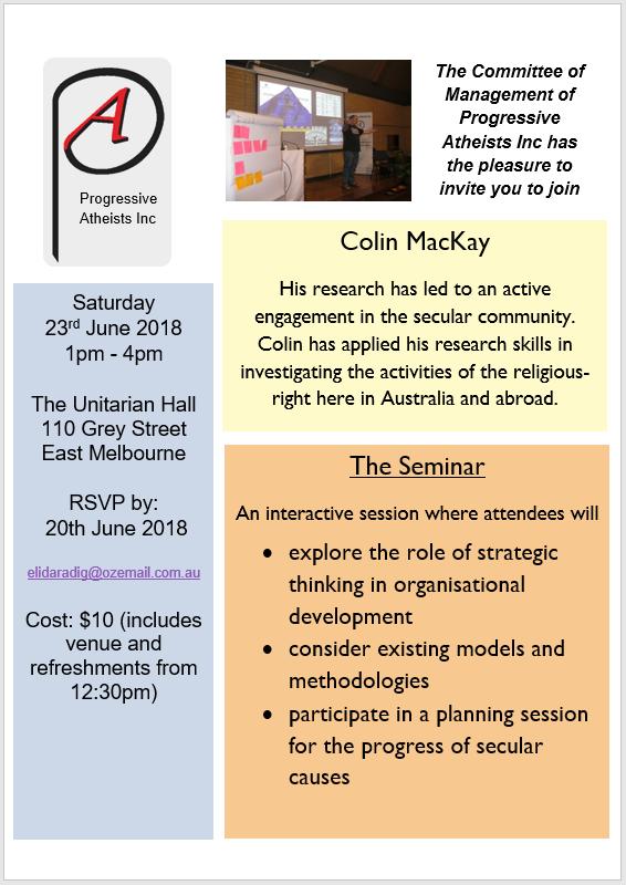 strategy seminar invitation